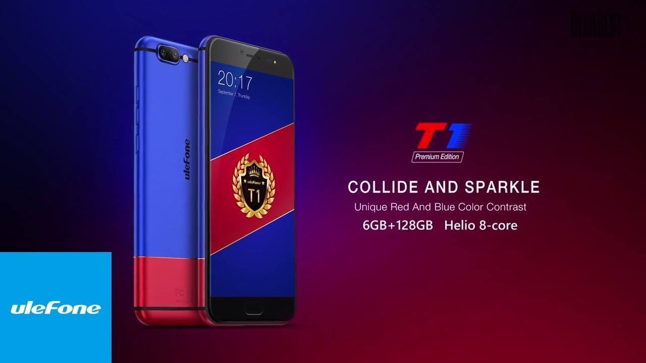 Ulefone T1 Premium Edition 4G Phablet  -  BLUE AND RED  In stock and available for global shipping on the Gearbest website, here: