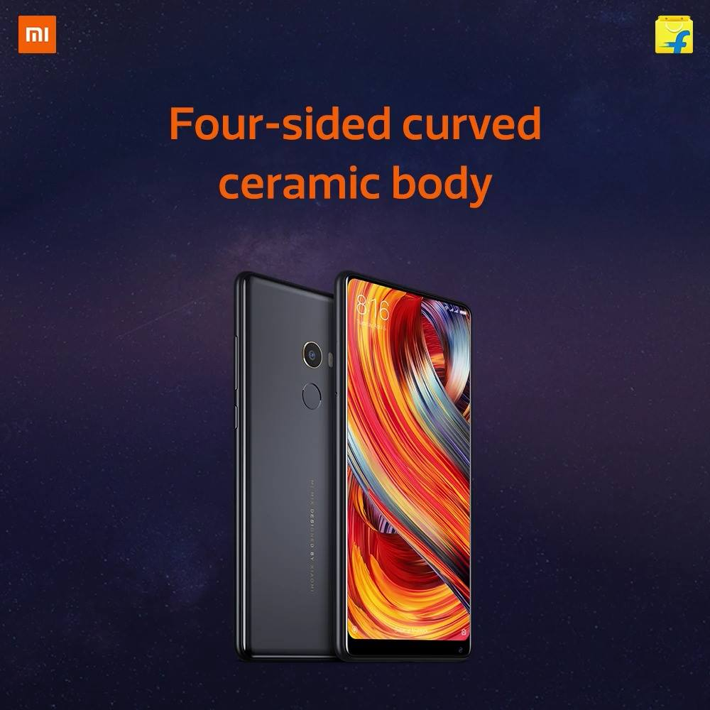 Mi MIX 2 comes with a premium 4 sided curved ceramic body which is scratch-resistant, looks amazing and fits perfectly in your hand! Grab the best offer on the special Dhanteras Sale on 17th October. #OnlyOnFlipkart