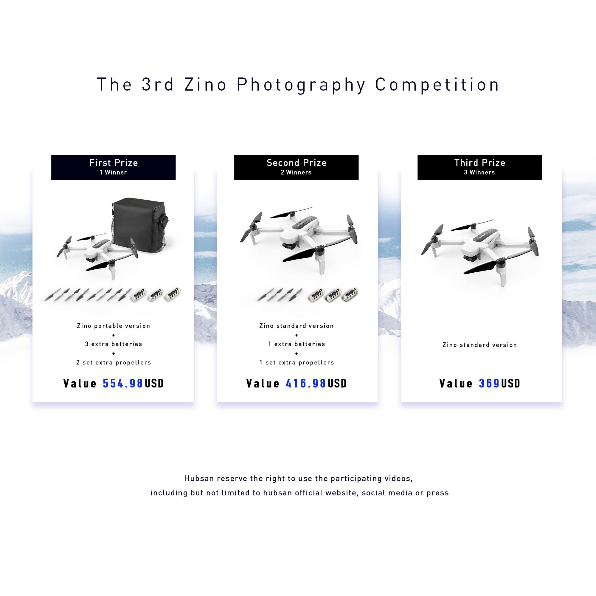 The 3rd ZINO Photography Competition Winners First Prize Winner www.tomtop.com Second Prize Winners www.tomtop.com