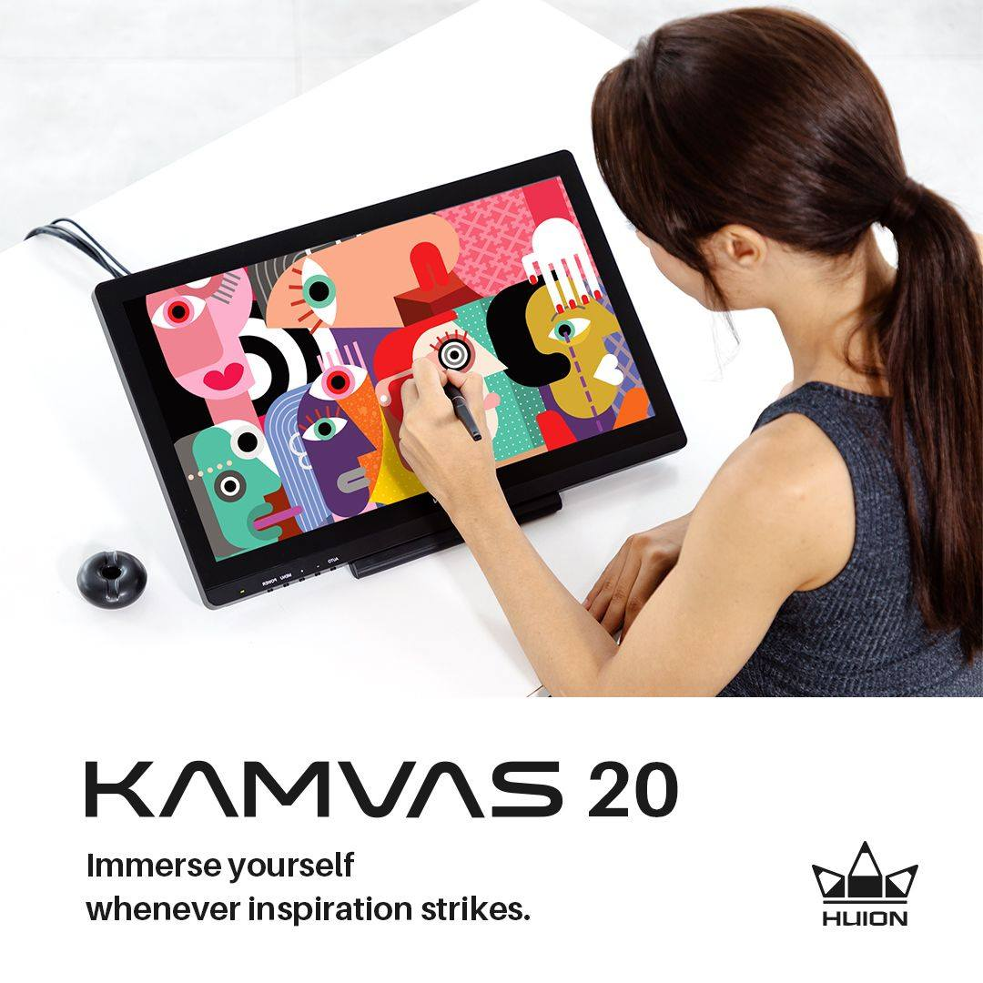 KAMVAS 20, capture your inspiration right here right now.