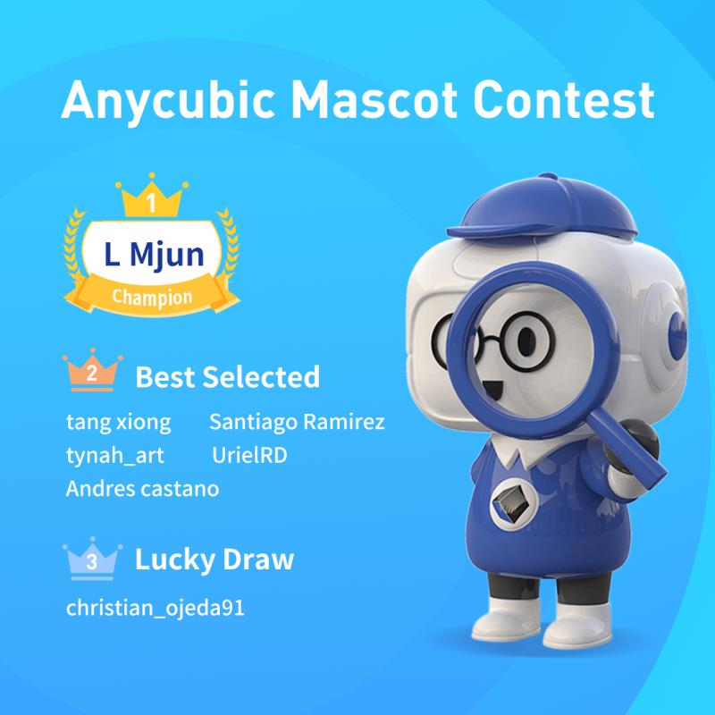 Congratulation, we have the final winner for Anycubic Mascot Contest😁😀😂