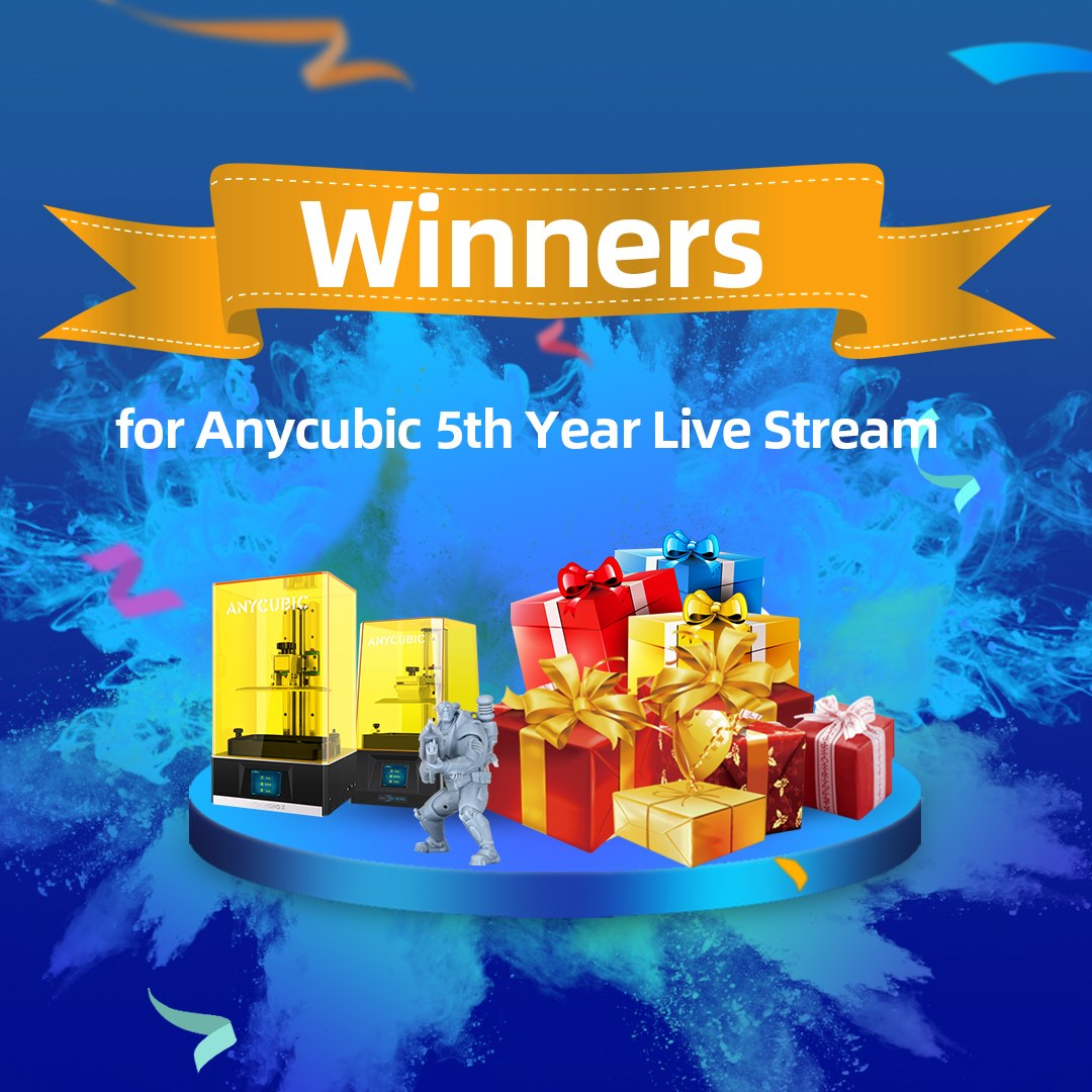 Thanks for watching the Anycubic 5th Anniversary Gala