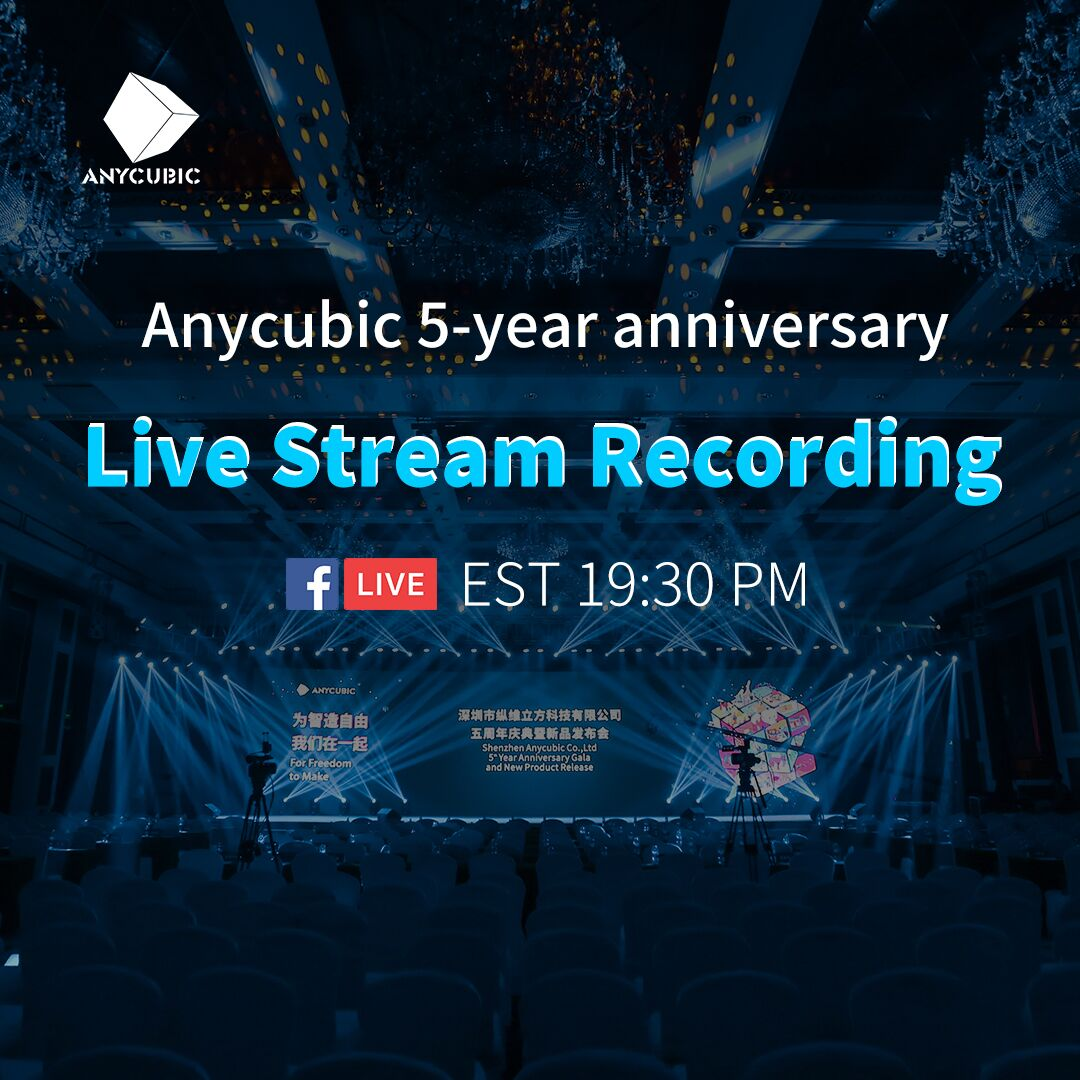Dear Anycubic lovers, we are terribly sorry that connection of our live streaming got cut off several times yesterday here at FB. To present you all the NEW PRODUCTS that you've been waiting for so long and give you a better experience of watching, our team decided to make up for this incident by going live again with the recording at 19:30 PM EST on Sep 3rd.