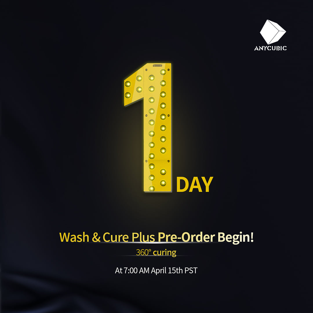 8.9 inches Wash and Cure Plus from Anycubic! Now only USD169. USD 80 off for the first 1000 units! 🎁🎇🎊🎉🔊 For EU and US Market in Anycubic official website