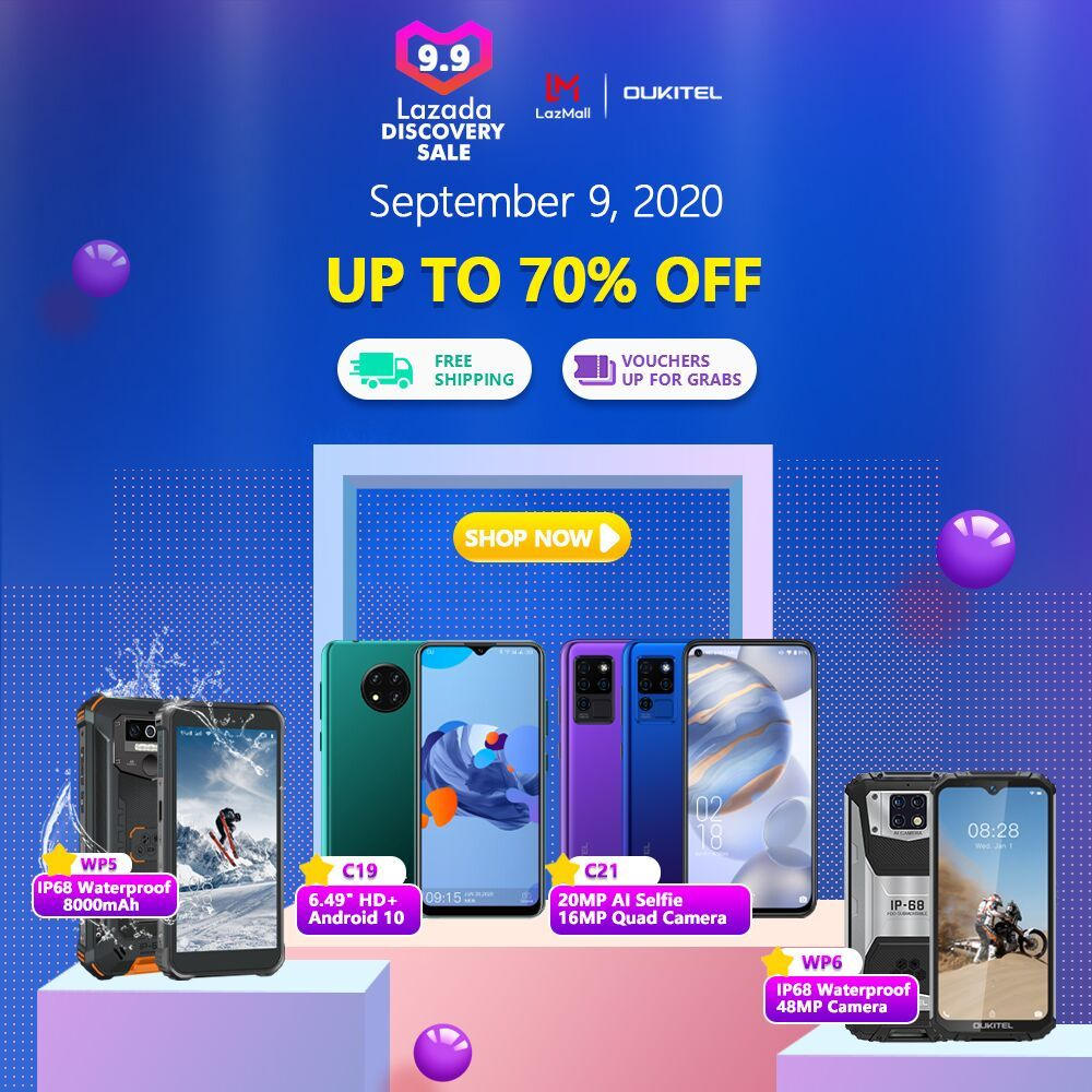 #Oukitel Mega Discount Sale on #Lazada Philippines📣📣 Get up to 70% off and grab extra discount vouchers on latest OUKITEL Smartphones 😍