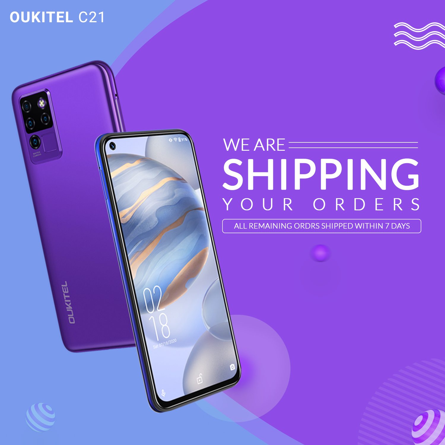 Dear #OUKITEL Fans📣 We know you all excited to experience the best budget phone of 2020, #OukitelC21😍