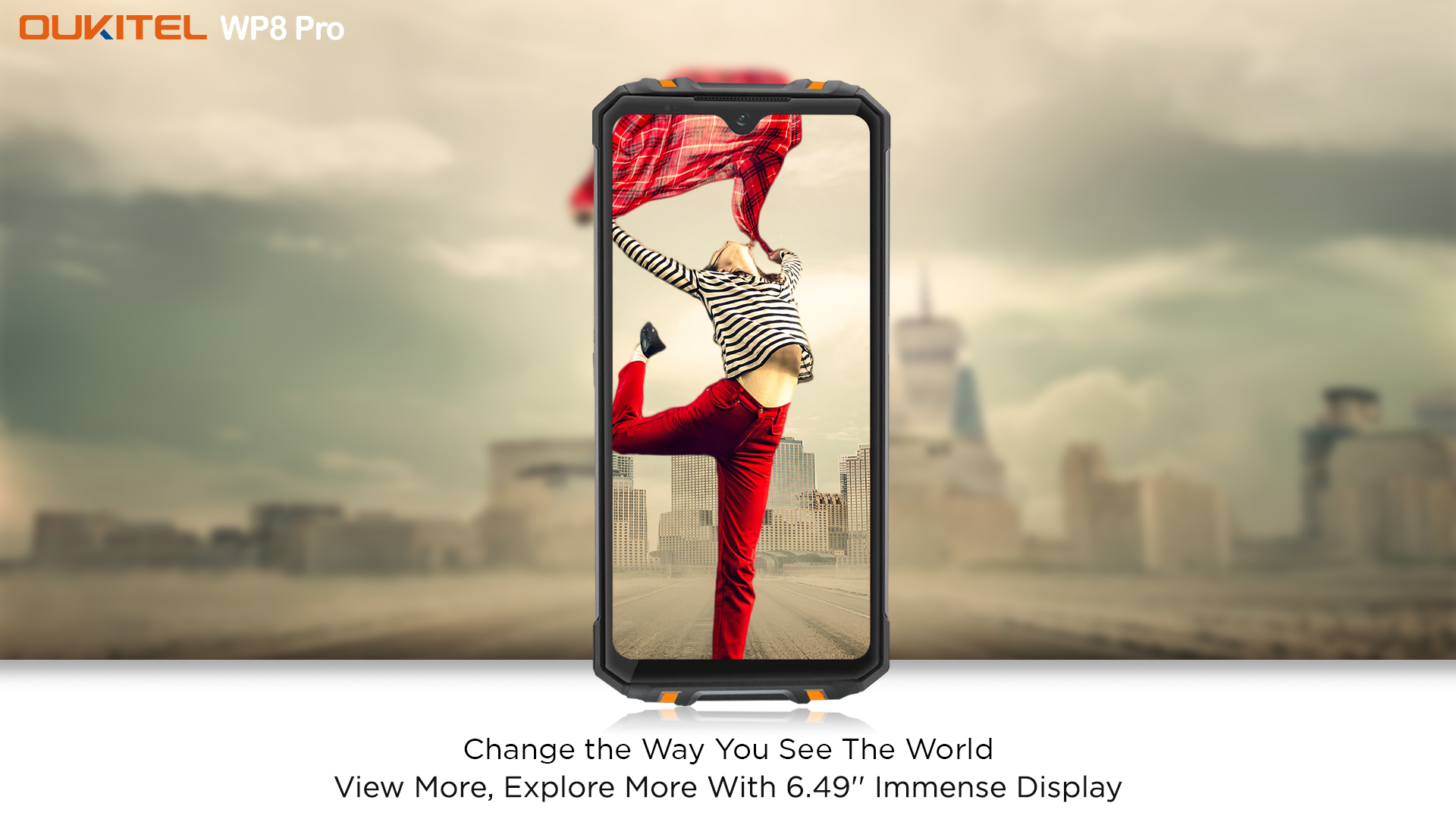 View more, explore more with 6.49inch Immense display of #SportsPhone #OUKITEL #WP8Pro🔥 Just 3 days to go for World Premiere at $119.99 only📣📣