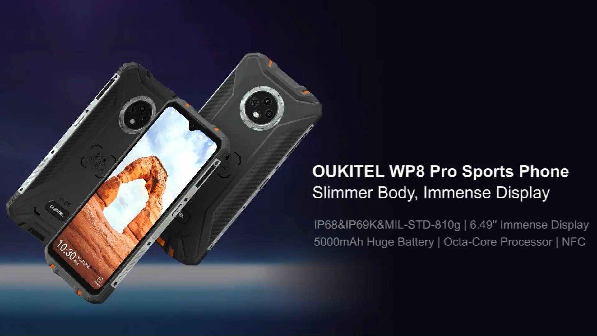 Introducing the best #SportsPhone of 2020, #OUKITEL #WP8Pro🎉 Featuring: