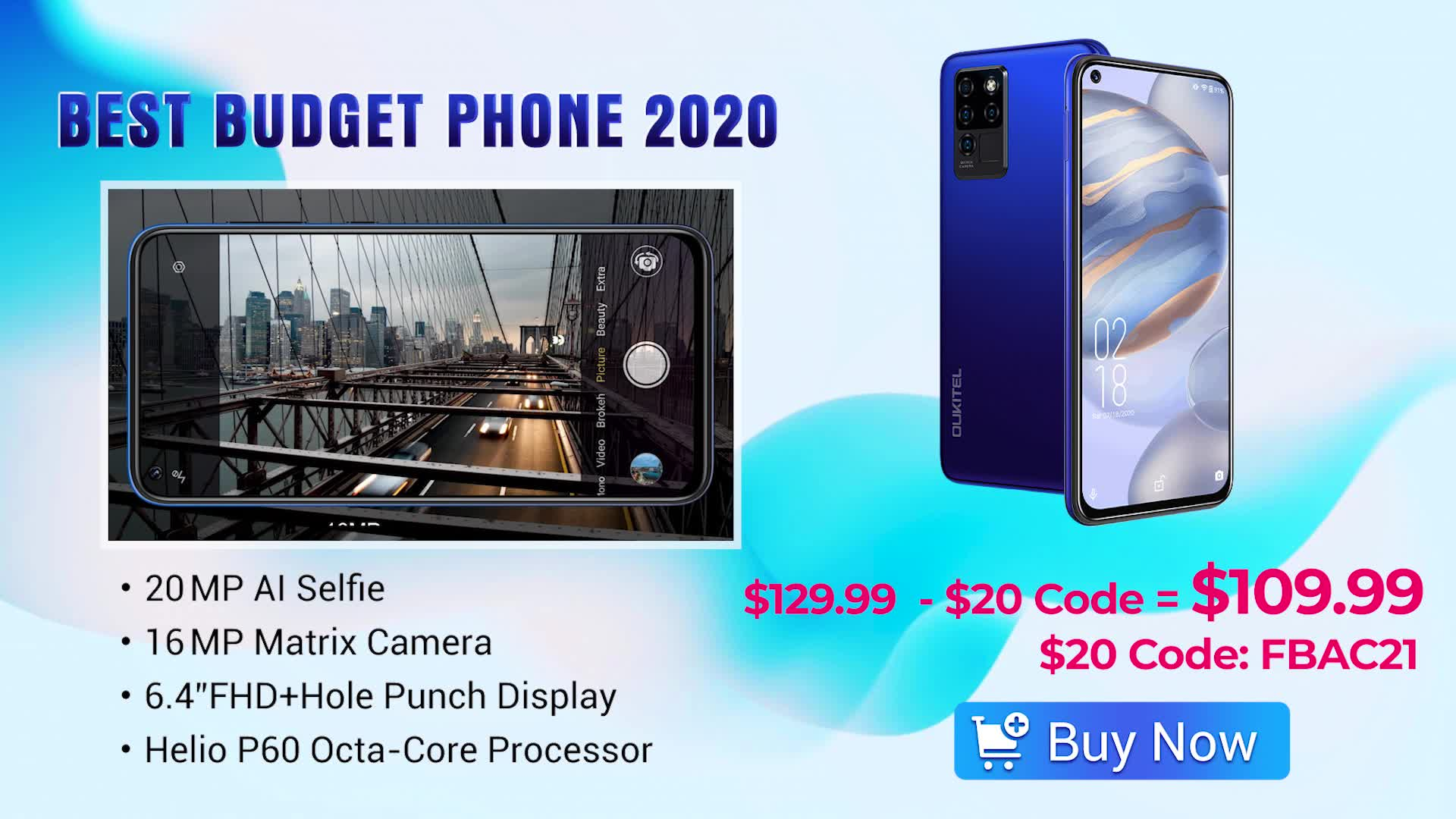 🏆Best budget phone 2020 - Oukitel C21