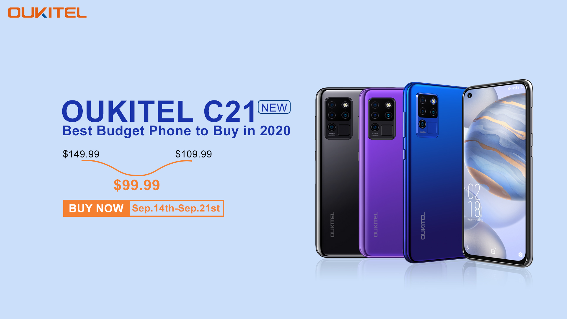 Special sale live now on #Banggood 📣📣 Get the best budget phone of 2020 #OukitelC21 at $99.99 only😍