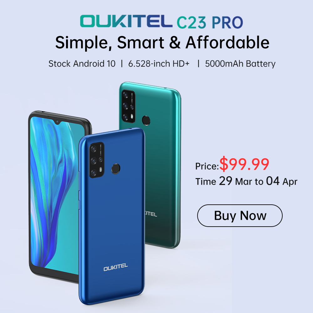 Simple, smart and affordable #OukitelC23Pro now available at $99.99 (50% Off)📣 Don't miss this 5000mAh battery phone 😍