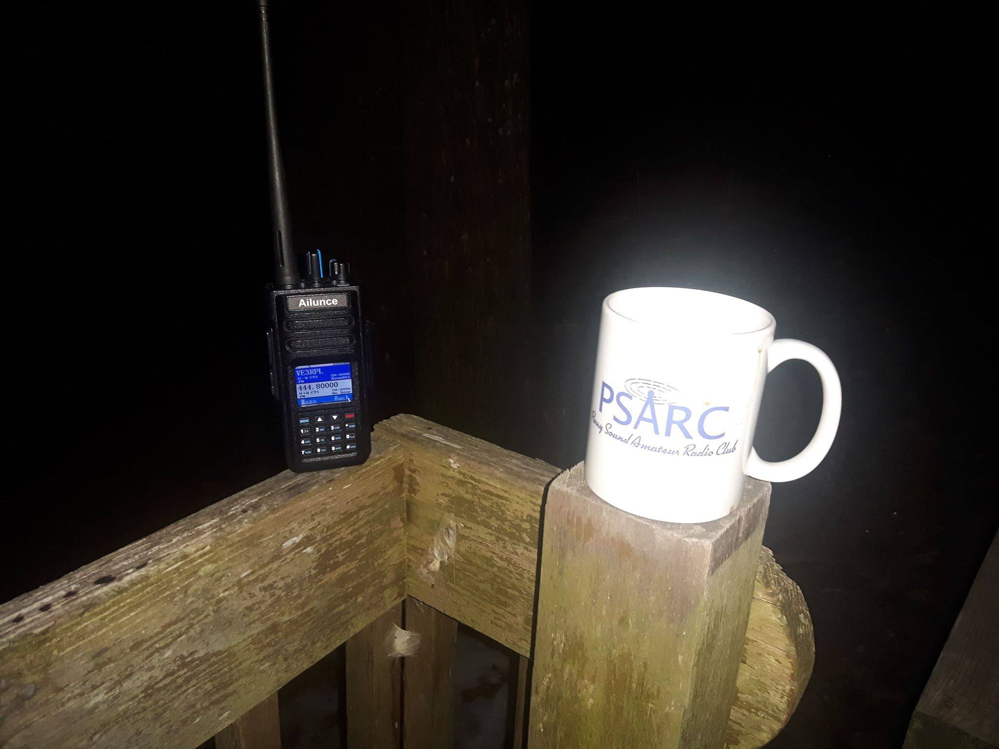 It will be a wonderful thing to operate the ham radio at night with a cup of coffee. #PSARC #Hamfest in 2019, will you come?