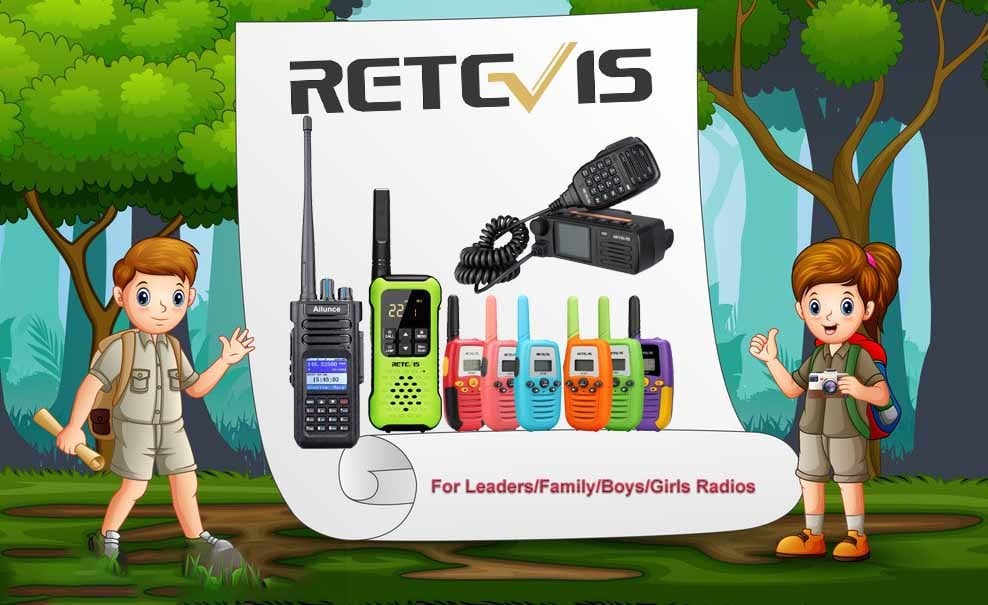 Retevis Offers the best radios for Scouts-Leaders/Family/Boys and Girls Scouts.