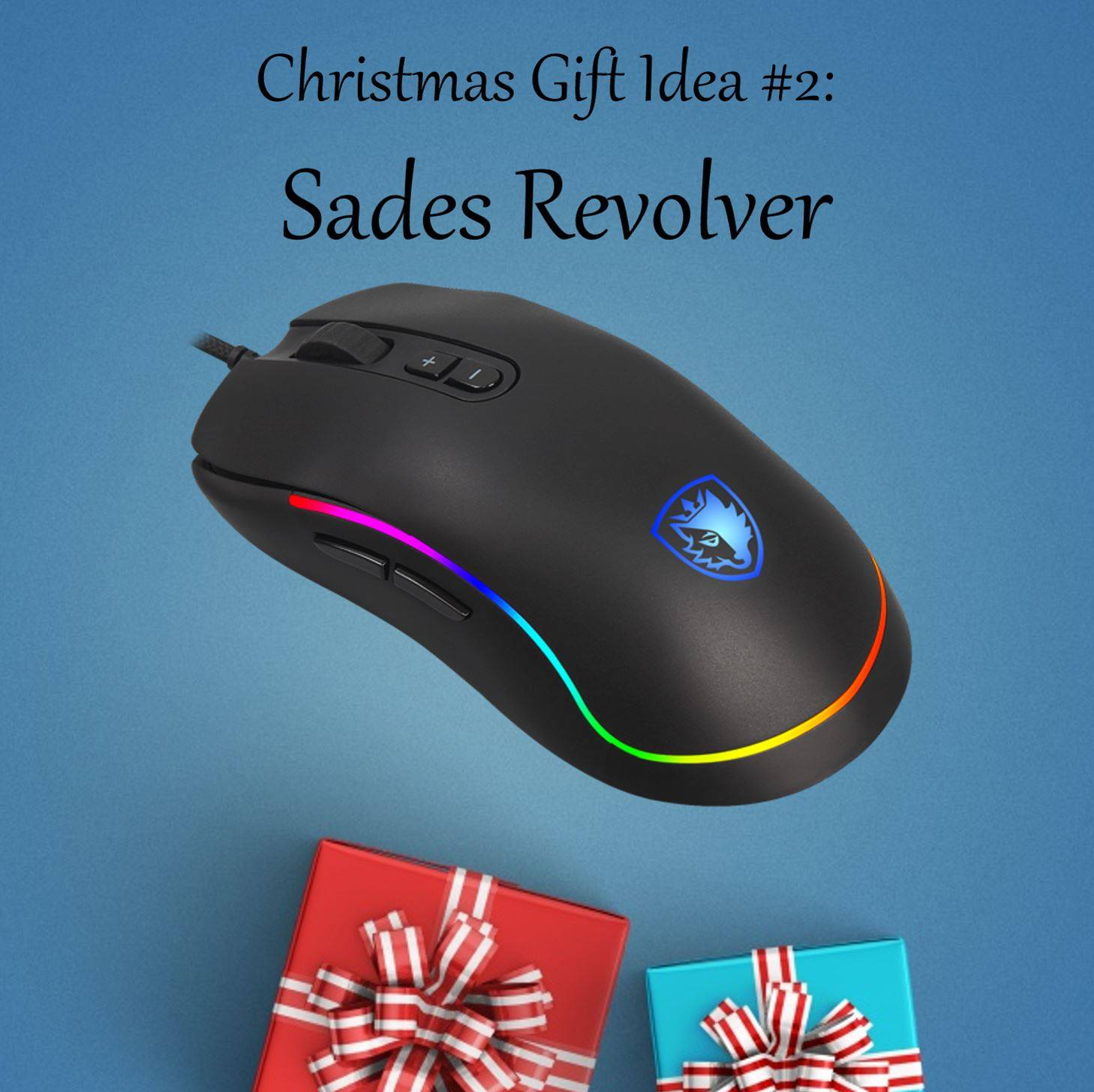 Christmas Gift Idea #2: Sades Revolver Perfect for friend who shares their life (and PCs) with loved ones. The revolver is ambidextrous and thus, great for everyone to use! Purchase via:...