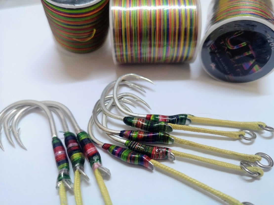 Uts 120D  Candy Thread 300M For Assist Jigging Hook  Color Available: