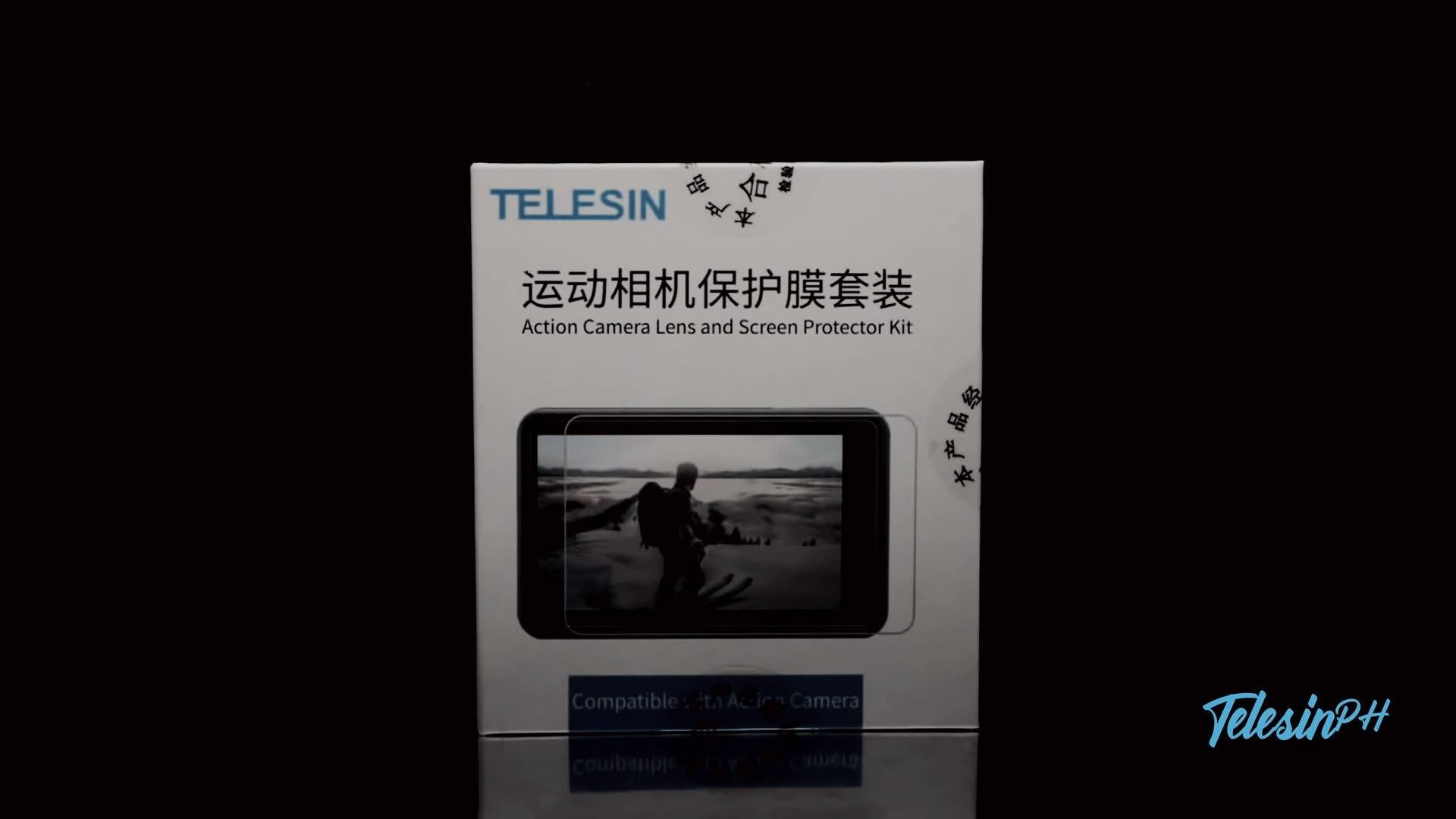 Protect  you camera screen from scratches with Telesin Tempered glass!