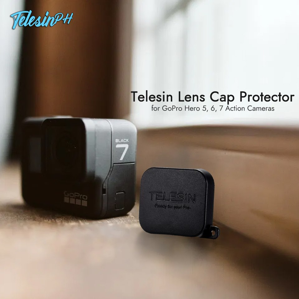 """Prevention is better than cure"" So, Why wait for something to happen to your GoPro Lens when you can already protect it with Telesin Lens Cap Protector right now? Set your priorities straight and be protected before it's too late. www.tomtop.com"