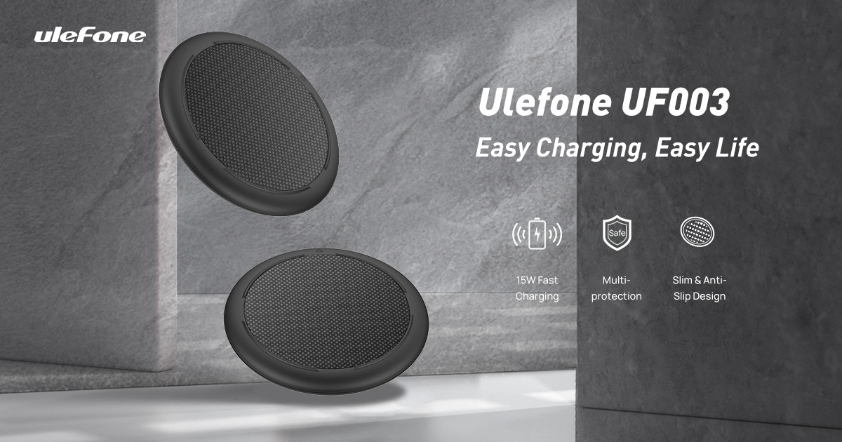 Ulefone UF003 Qi Wireless Charging Pad - Easy Charging, Easy Life 👍15W Fast Charging