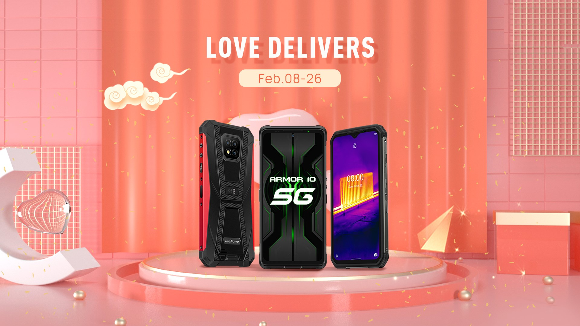 To celebrate Chinese New Year, we want to deliver happiness and love to you. Love Delivers deal will last the whole Spring Festival, with up to 47% discount. Must-have Ulefone models carefully prepared for you are all here!