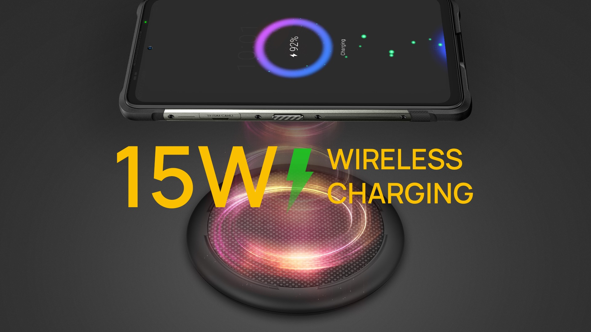 As the convenience and universal compatibility of wireless charging, wireless charging is making its way into more and more smartphones, Ulefone Armor 10 5G is no exception. The flagship Armor 10 5G supports 15W wireless charging, it is the first time Ulefone is offering 15W wireless charging technology in the Armor lineup.