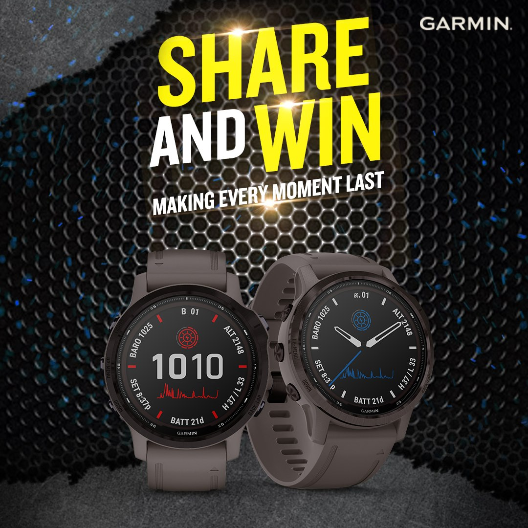 Capture and relive every moment with the Garmin fēnix 6 Pro Solar Series by sharing this post. Stand a chance to win our exclusive Garmin merchandise now. Step 1: Like Garmin Malaysia page