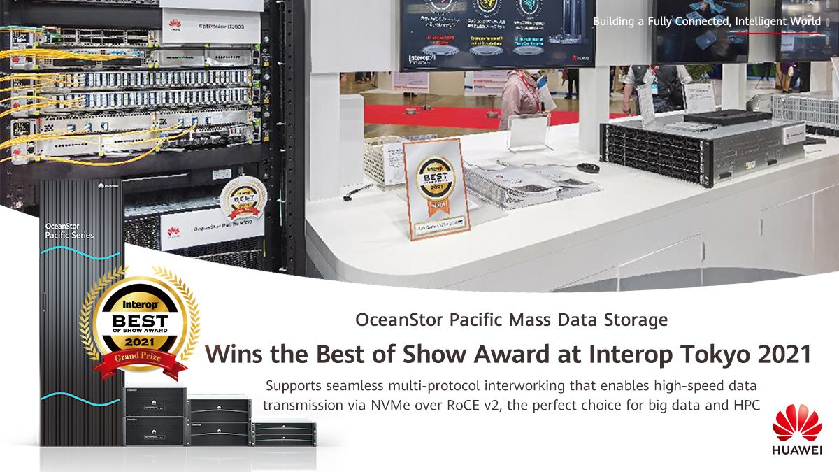 🏆 #Huawei #OceanStorPacific Mass Data Storage has won the Best of Show Award at #InteropTokyo2021! Thanks for your trust & support!  Learn more: www.tomtop.com