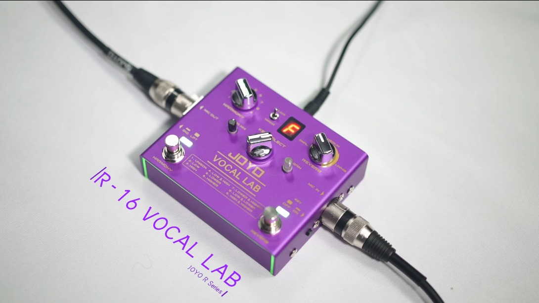 The very first vocal effect pedal of JOYO: R-16 VOCAL LAB is officially released now!