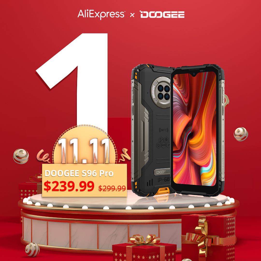 👏Last Day! November 11th, 📱#DOOGEE_S96PRO for only $239.99. AliExpress will have even more discounts, so get them now!👇 🔥Save more with the $40 Coupon Code: DGS96PRO 🛒Add to cart to be notified 👉www.tomtop.com