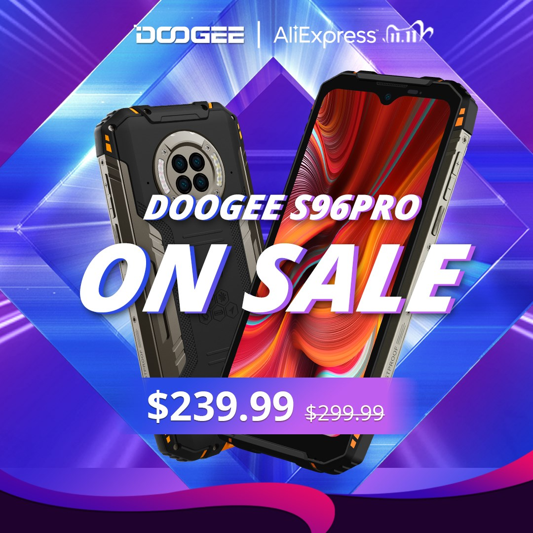 🔥🔥🔥On sale now! 📲#DOOGEE_S96PRO for only 😍$239.99. #AliExpress will have even more discounts, so get them now!👇 🎁Save more with the $40 Coupon Code: DGS96PRO...