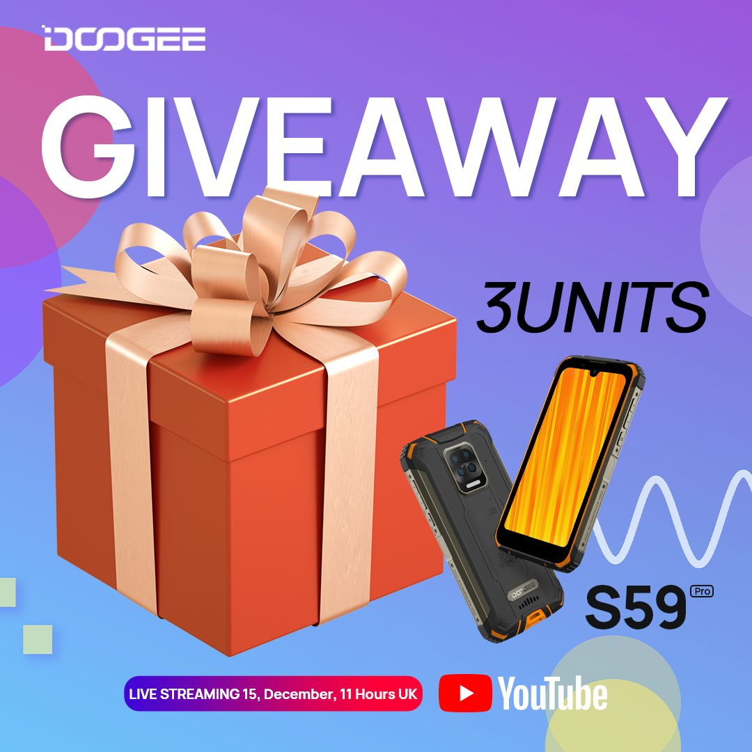 The launch event for the powerful #DOOGEE_S59PRO will take place on #YouTube on December 15th and 3 winners will be drawn in the live broadcast video.🤪 Click and try to win a FREE smartphone🎁www.tomtop.com