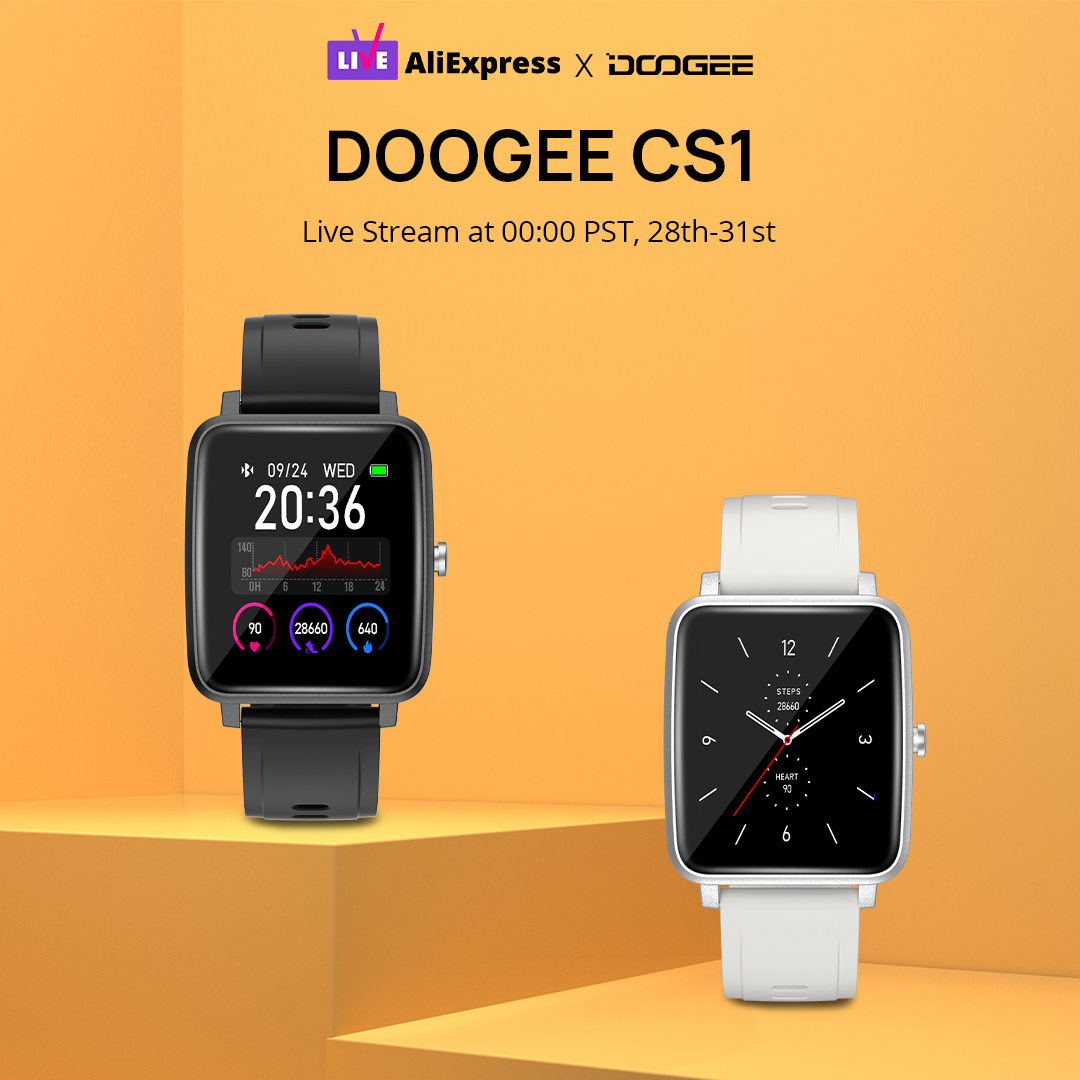 We will have a Live stream at 00:00 PST on the 28th. During the live, we will give away the DOOGEE CS1 #smartwatch. Join us for a FREE gift!⌚ Join us  👉 www.tomtop.com