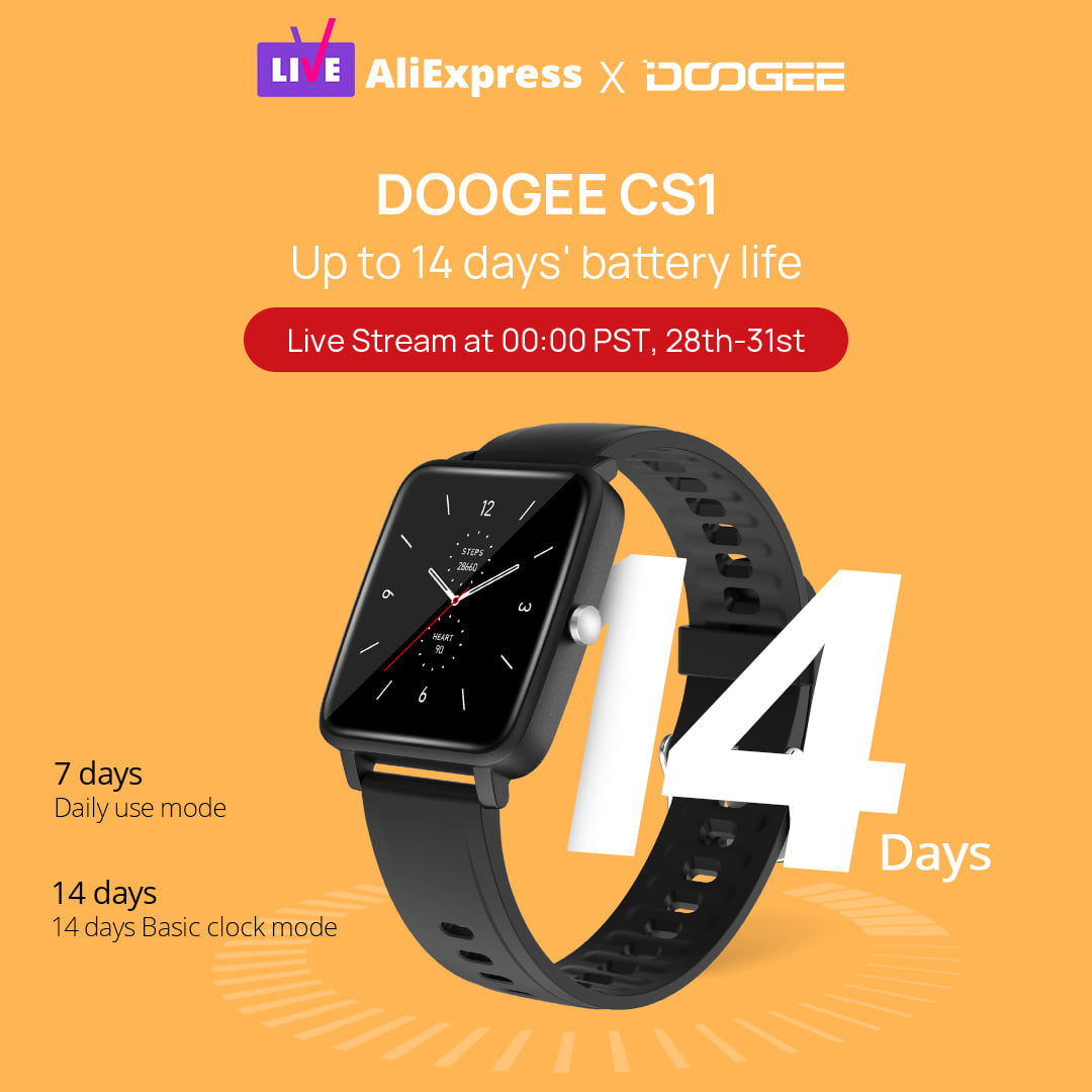 DOOGEE CS1 #smartwatch charges once can use up to 14 days.⌚