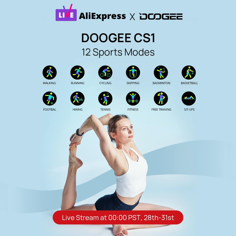 DOOGEE CS1#smartwatch supports 12 sports modes⌚