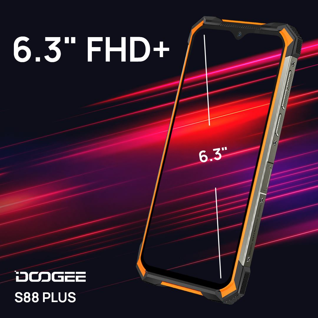 #DOOGEE_S88PLUS has the same screen size as the #S88PRO