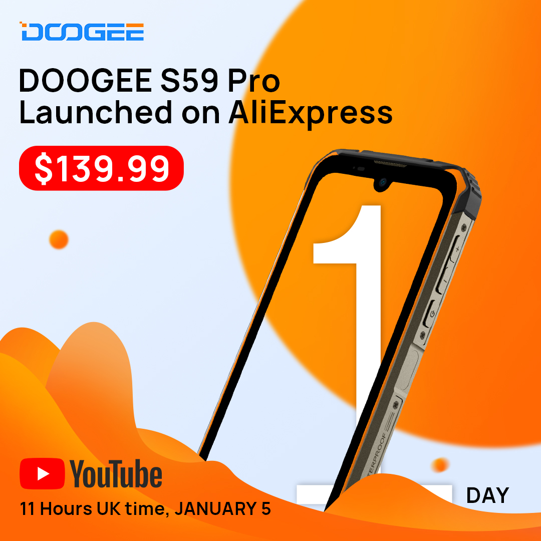 S59 Pro will be launched on AliExpress tomorrow at an ultra-low price of $139.99. Don't miss our YouTube live Streaming. 💞 Join our Giveaway  👉 www.tomtop.com