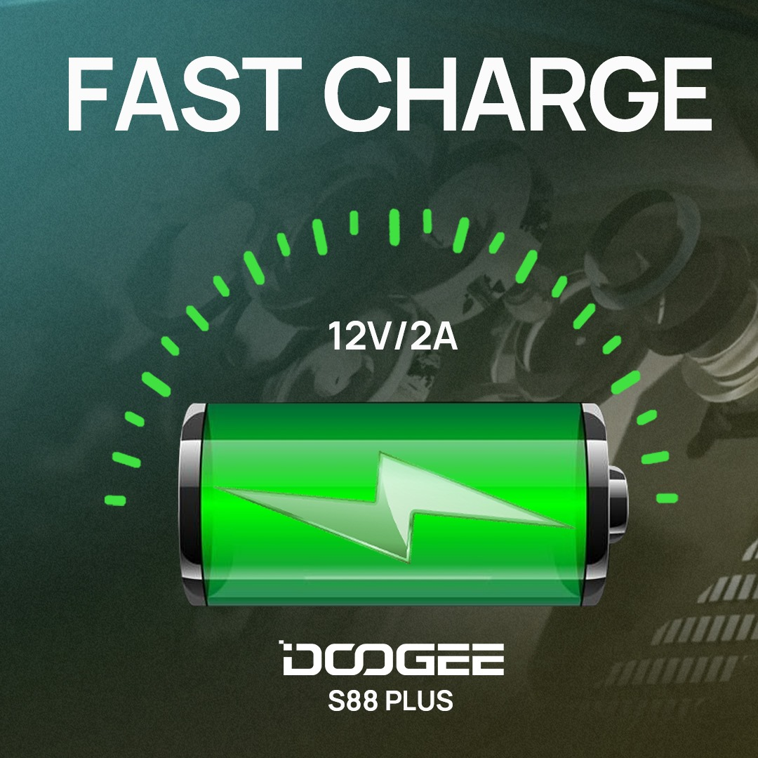 #DOOGEE_S88PLUS has a 12V / 2A fast charging function. No need to wait for a long time to fully charge it.🥰 Add to cart 🛒  www.tomtop.com