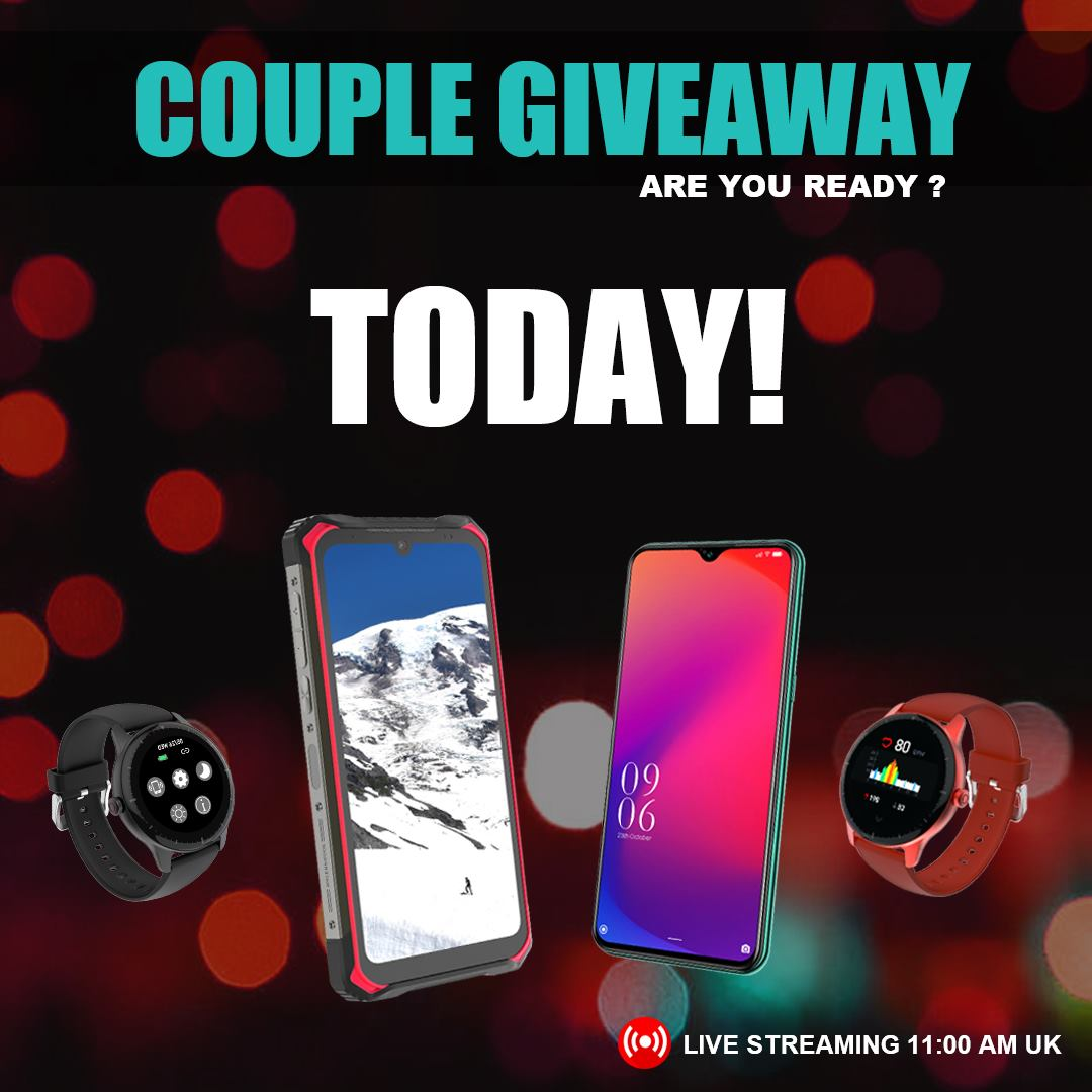 TODAY LIVE! DOOGEE GIVEAWAY! 🤩 Today 11:00am (UK)