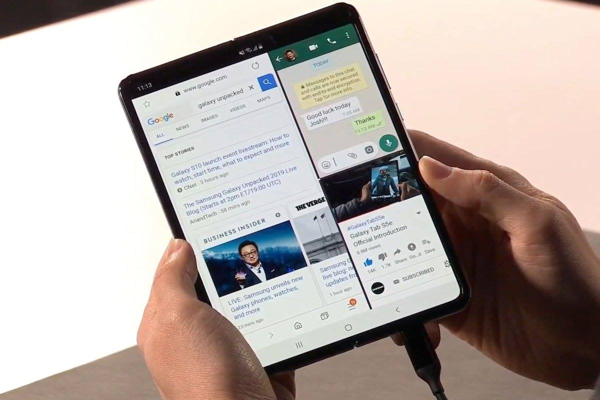 Samsung Galaxy Fold Phone Cum Tablet