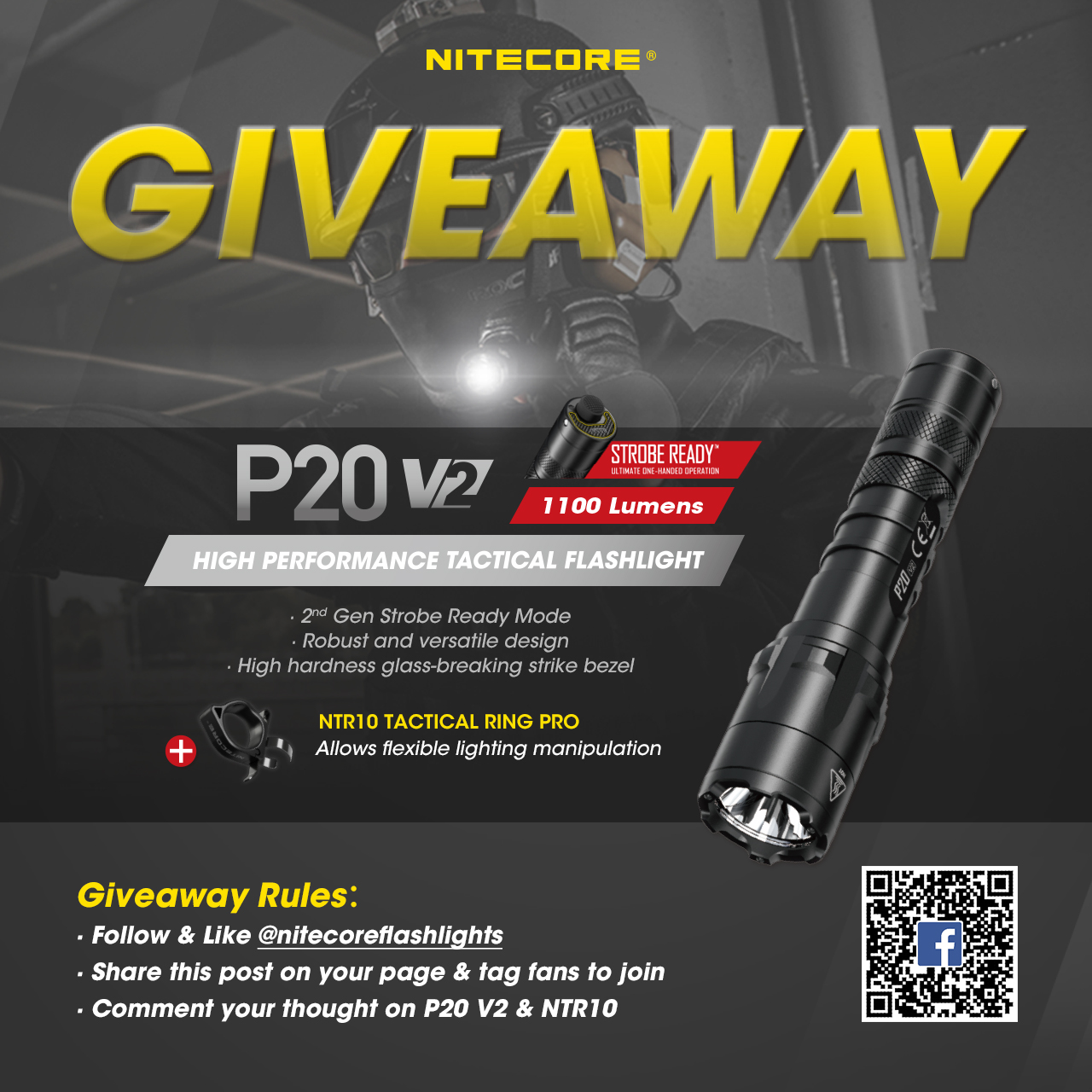 🔥🔥NITECORE GIVEAWAY🔥🔥 Let's join our giveaway and you will have a chance to win P20 V2 & NTR10 back home‼️