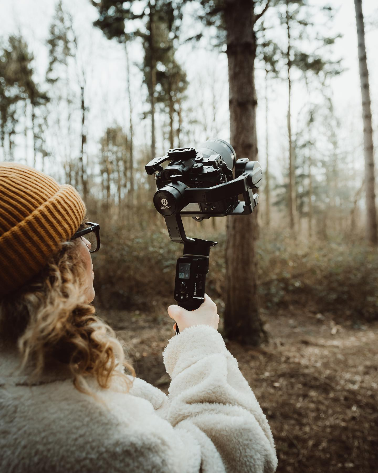 """Taking the AK2000C with me on location really helped bring out the feeling of being encompassed by nature and it's beauty, allowing me to get low angle shots while panning along the forest floor with a light set up easily allowed me to get the feeling of nature being bigger than us all and how in awe we are of it."""
