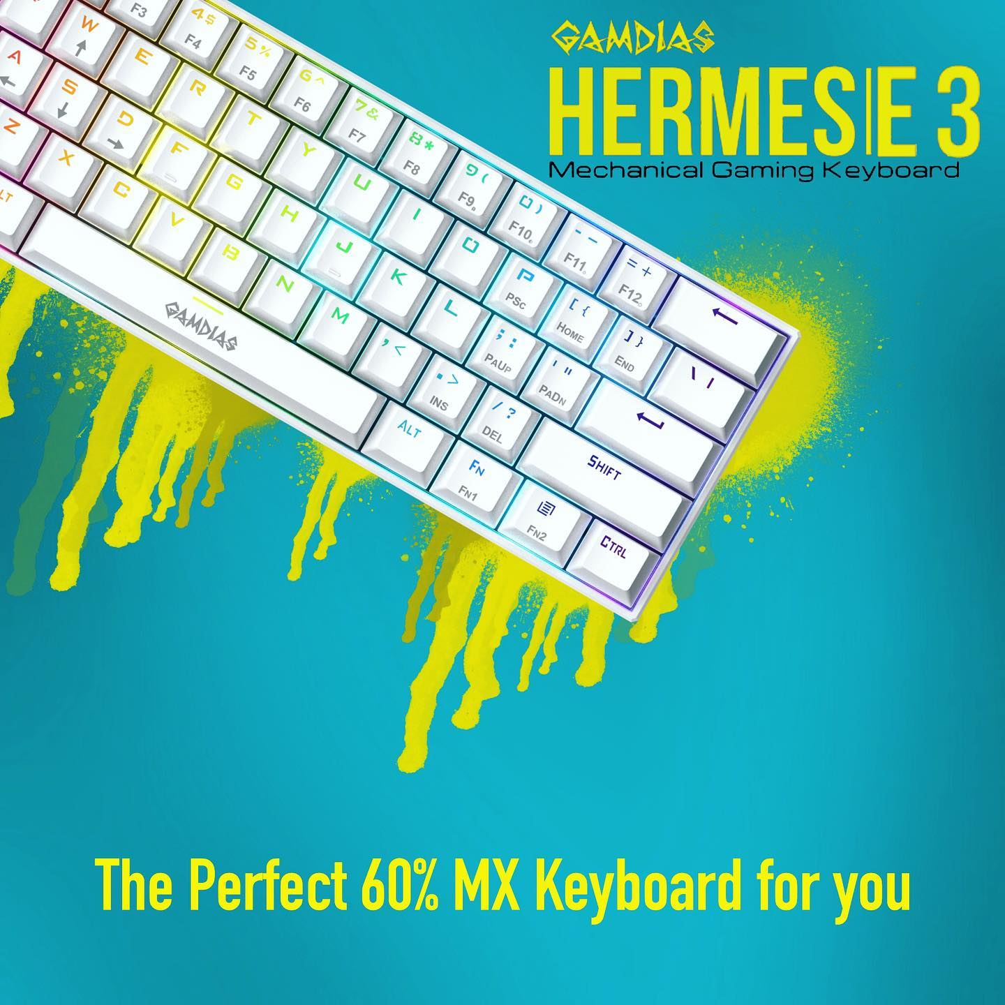 Level Up🌟your gaming peripherals to a cleaner look! The 60% Keyboard that is perfect for you! HERMES|E3 60% Mechanical Gaming Keyboard... ++++++++++++++++++++++++++++++